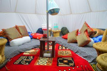 Camping in Bir Billing Valley at Camp Oak View