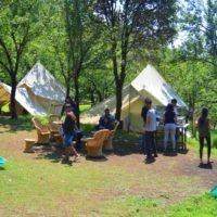 Camp in Oak forest at Bir