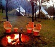Bon fire at Camp Oak View