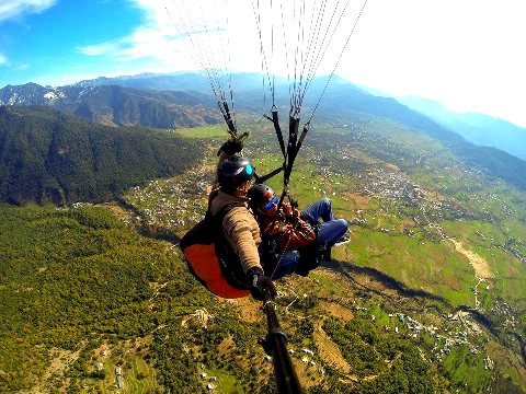 medium paragliding session and camping packages