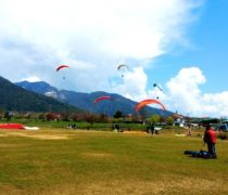 long paragliding session of paragliding in Bir Billing